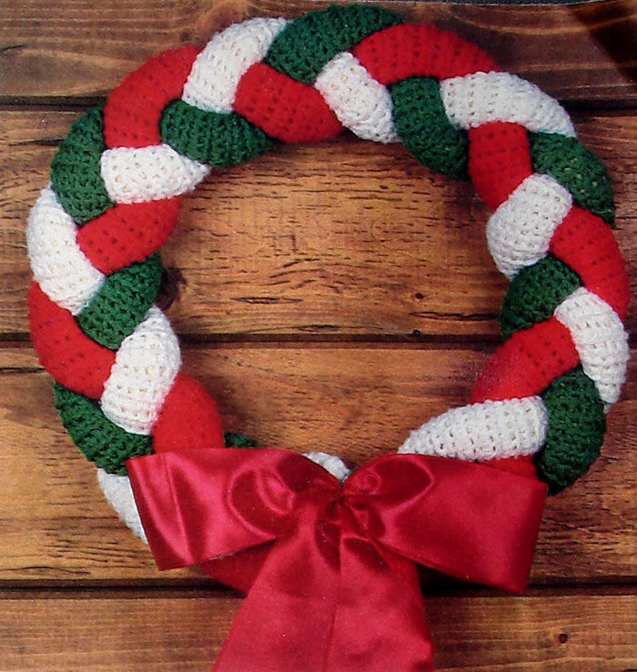 christmas braided wreath