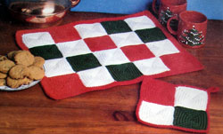 Holiday Checkerboard Potholder
