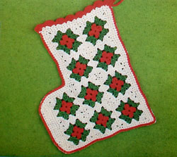 Crocheted Christmas Granny Stocking