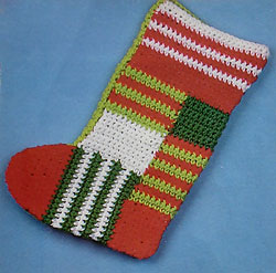 Crocheted Patchwork Stocking
