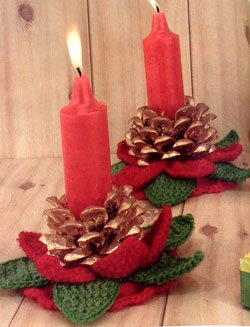 Crochet a Pinecone Candle Holder
