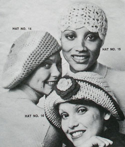 Styles 14, 15 and 16 crocheted hats