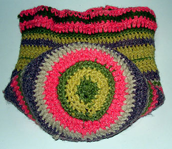 "EASY: Easy Striped (16"") Round Pillow Crochet Pattern"