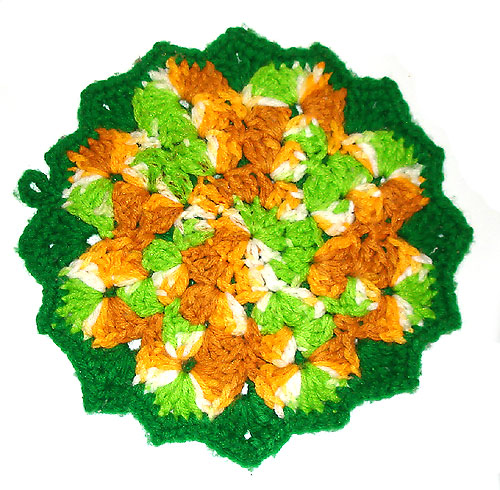 Crochet Pattern: Amish Nine Patch Potholder