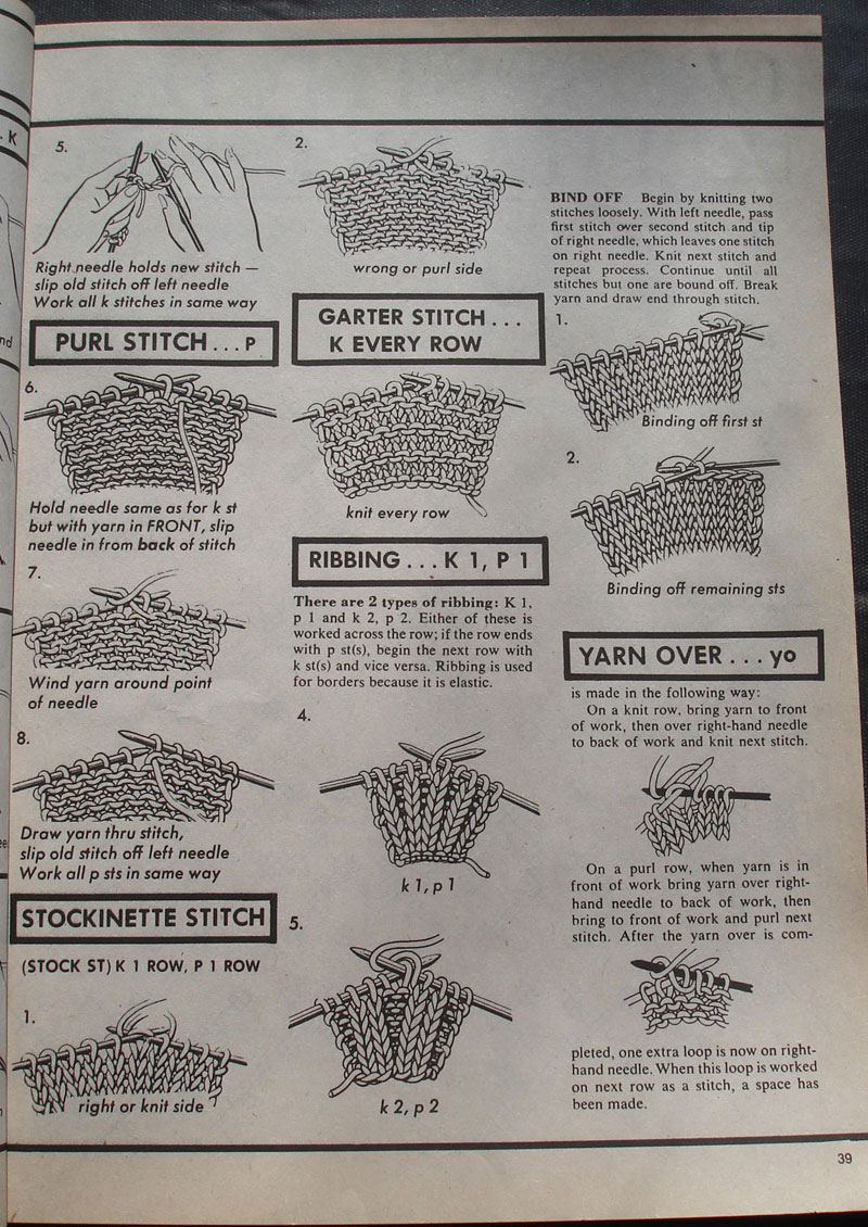 Basic Knitting : Basic Knitting 2