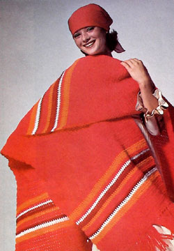 Crochet a Red Poncho