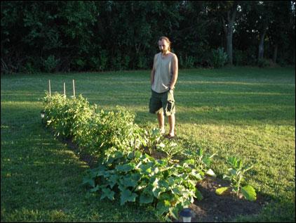 Our 2 Row Garden