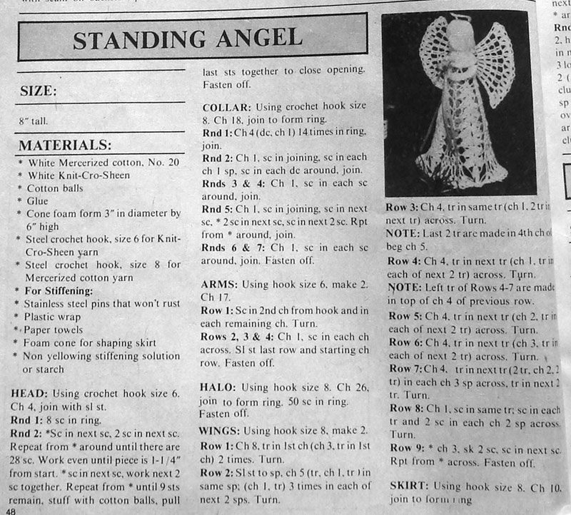 Easy Free Crochet Angel Pattern : Lovely Crochet Angels ? 26 free patterns ? Grandmothers ...