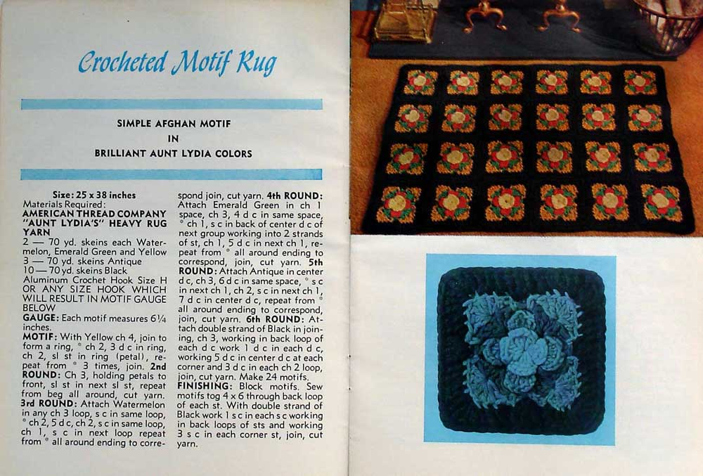 Flower Rug Free Crochet Pattern